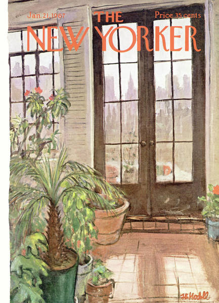 Plant Painting - New Yorker January 21st, 1967 by Frank Modell