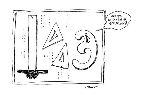 Curve Drawing - New Yorker January 21st, 1991 by Al Ross
