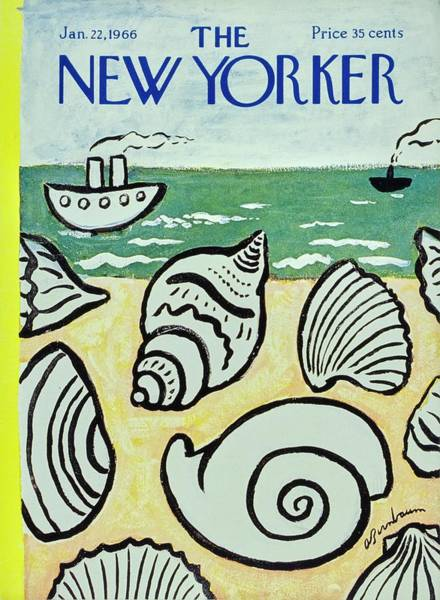 1960s Painting - New Yorker January 22nd 1966 by Aaron Birnbaum