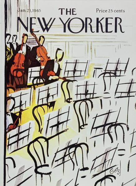 Formal Wear Painting - New Yorker January 23rd 1965 by Arthur Getz