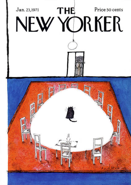 Table Painting - New Yorker January 23rd, 1971 by Ronald Searle