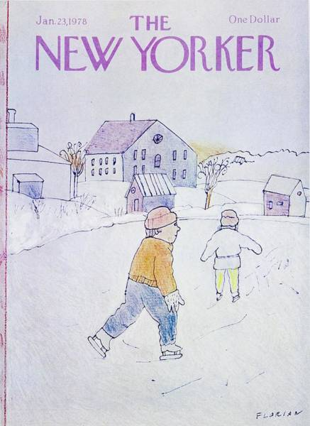 Ice Painting - New Yorker January 23rd 1978 by Douglas Florian