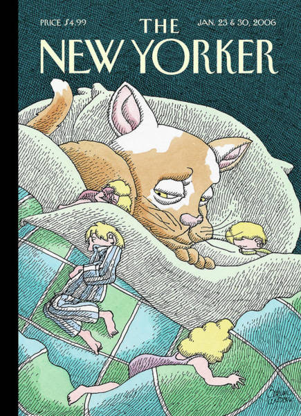 Pet Painting - New Yorker January 23rd, 2006 by Gahan Wilson