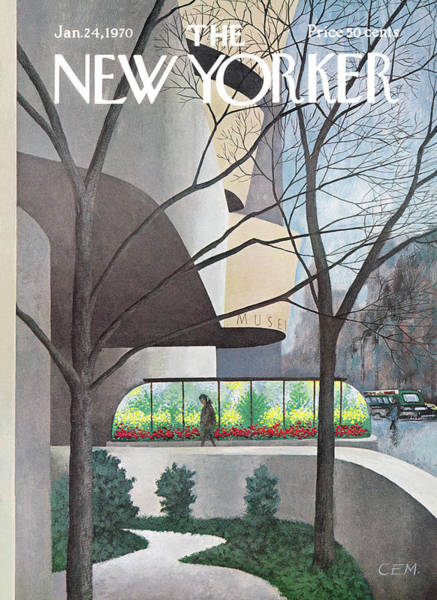 Wall Art - Painting - New Yorker January 24th, 1970 by Charles E Martin