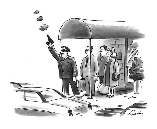 Shooting Drawing - New Yorker January 24th, 1994 by Mike Twohy