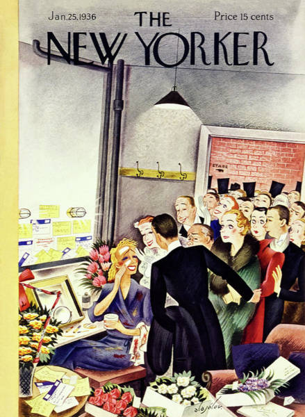 Performing Arts Painting - New Yorker January 25 1936 by Constantin Alajalov