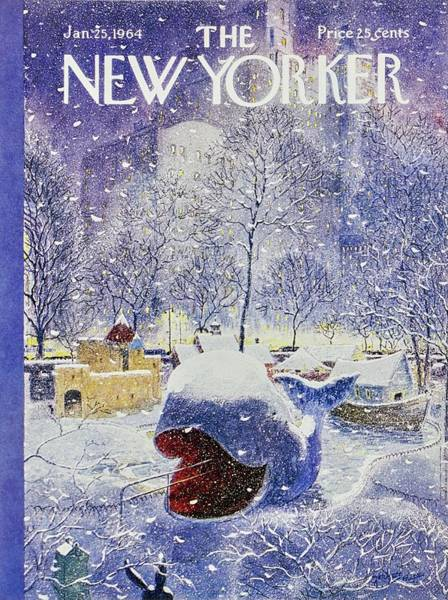 North America Painting - New Yorker January 25th 1964 by Garrett Price