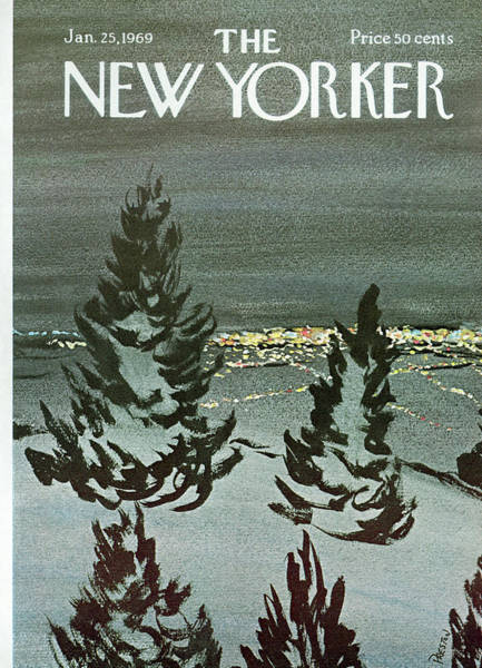 Night Painting - New Yorker January 25th, 1969 by David Preston
