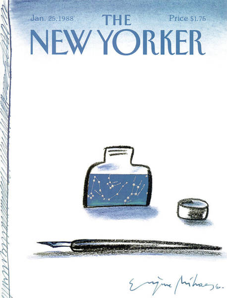 Poet Painting - New Yorker January 25th, 1988 by Eugene Mihaesco