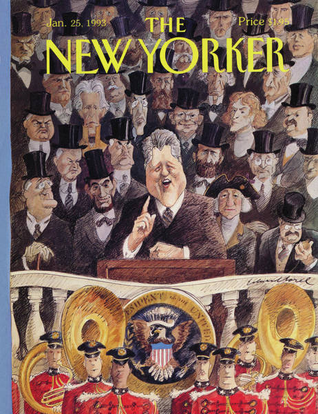 Washington Painting - New Yorker January 25th, 1993 by Edward Sorel