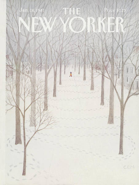 Wall Art - Painting - New Yorker January 26th, 1981 by Charles E Martin