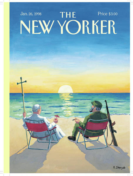 1998 Painting - New Yorker January 26th, 1998 by R Sikoryak