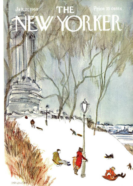 New York City Painting - New Yorker January 27th, 1968 by James Stevenson