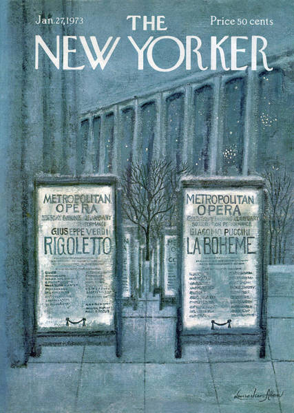 Houses Painting - New Yorker January 27th, 1973 by Laura Jean Allen