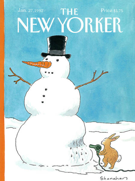 Obstacle Painting - New Yorker January 27th, 1992 by Danny Shanahan