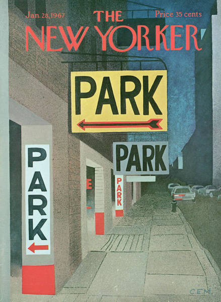 City Painting - New Yorker January 28th, 1967 by Charles E Martin
