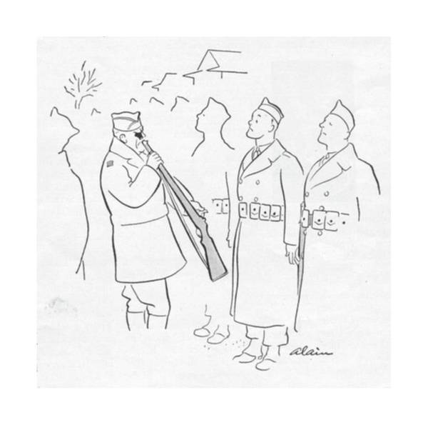 Wall Art - Drawing - New Yorker January 29th, 1944 by  Alain