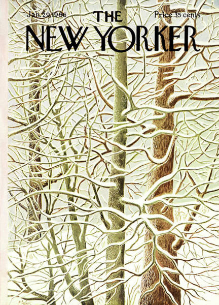 Suburban Painting - New Yorker January 29th, 1966 by Ilonka Karasz