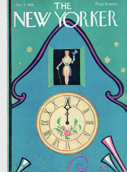 Wall Art - Painting - New Yorker January 2nd, 1926 by Rea Irvin