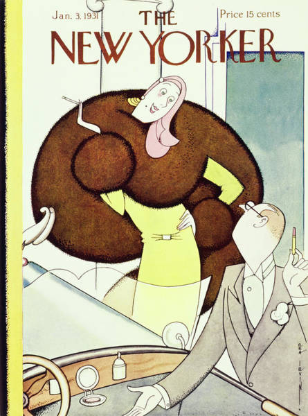 Person Painting - New Yorker January 3 1931 by Rea Irvin