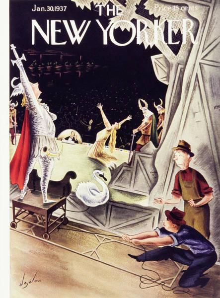 Nobody Painting - New Yorker January 30 1937 by Constantin Alajalov
