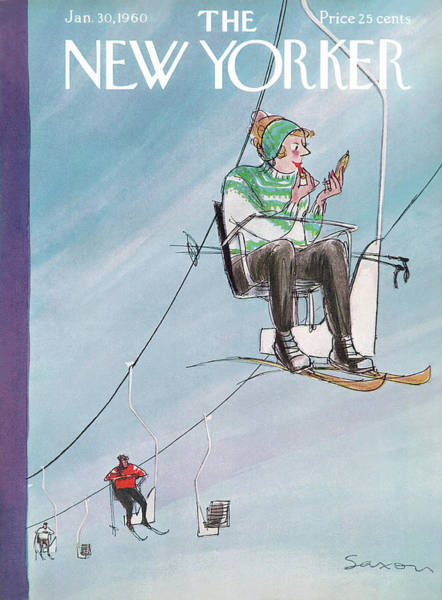 Painting - New Yorker January 30th, 1960 by Charles Saxon