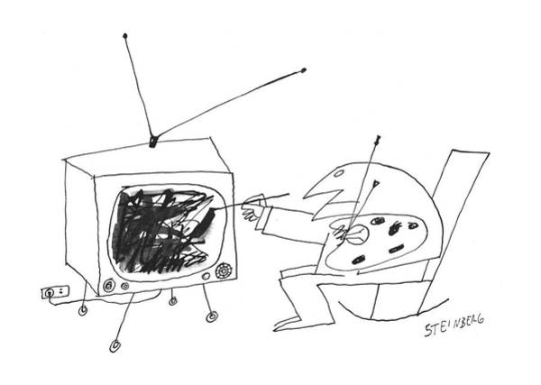 1960 Drawing - New Yorker January 30th, 1960 by Saul Steinberg