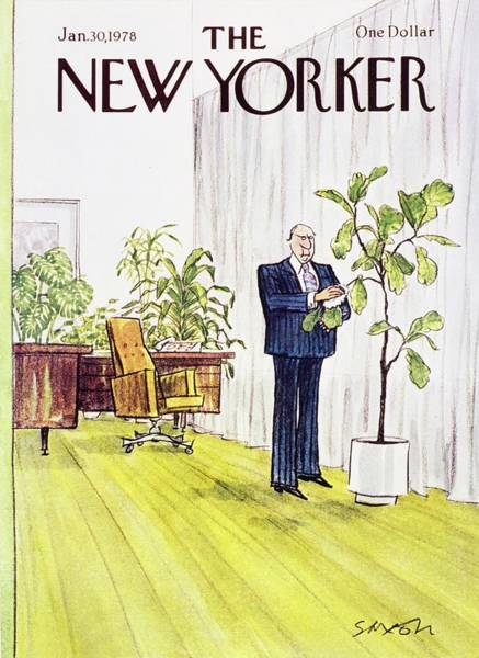 Office Painting - New Yorker January 30th 1978 by Charles D Saxon
