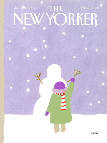 Fall Painting - New Yorker January 30th, 1984 by Heidi Goennel