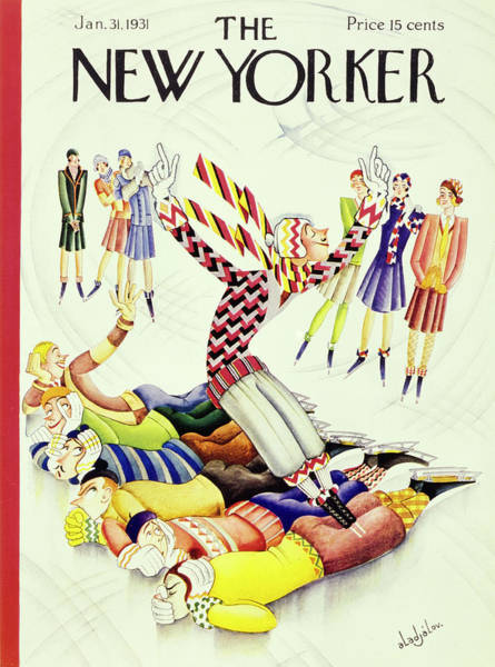 Lying Down Painting - New Yorker January 31 1931 by Constantin Alajalov