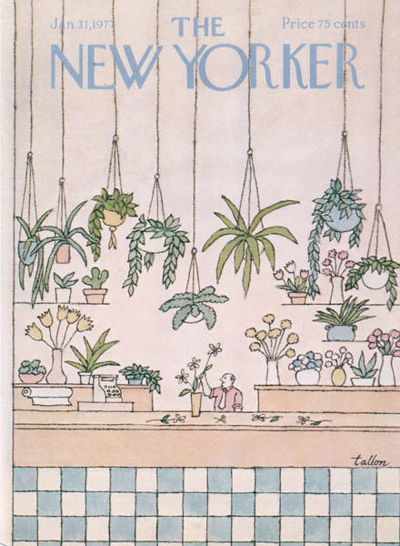 Plant Painting - New Yorker January 31st, 1977 by Robert Tallon