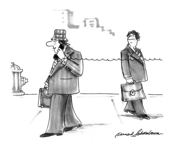 January 31st Drawing - New Yorker January 31st, 1994 by Bernard Schoenbaum