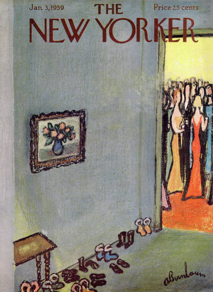 Celebration Painting - New Yorker January 3rd, 1959 by Abe Birnbaum