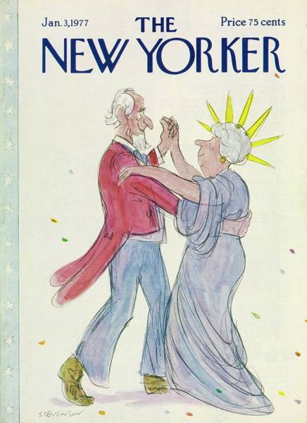 American Culture Painting - New Yorker January 3rd 1977 by James Stevenson