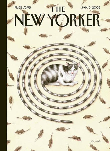 2005 Painting - New Yorker January 3rd, 2005 by Gurbuz Dogan Eksioglu