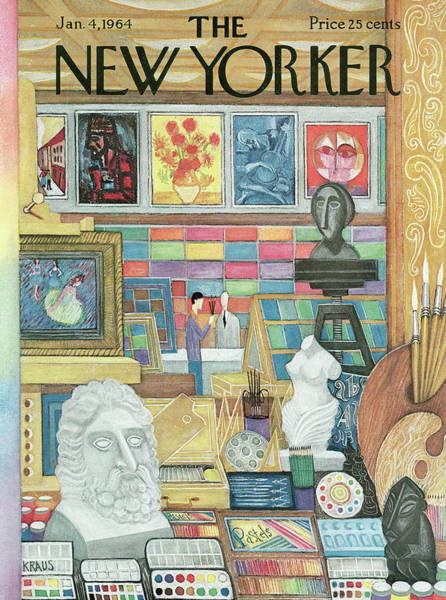 Store Painting - New Yorker January 4th, 1964 by Robert Kraus