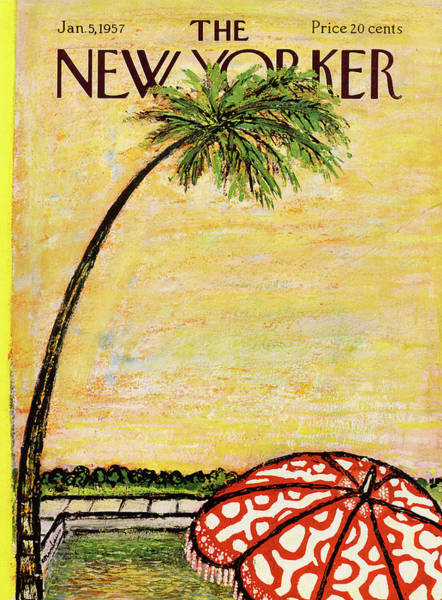 Relaxation Painting - New Yorker January 5th, 1957 by Abe Birnbaum