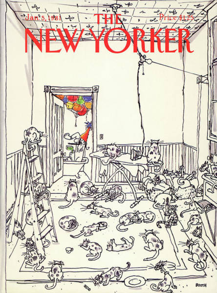 Pet Painting - New Yorker January 5th, 1981 by George Booth