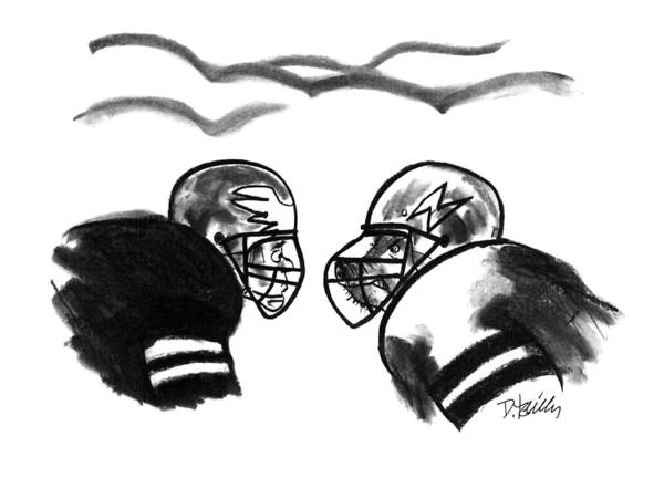 Football Drawing - New Yorker January 6th, 1992 by Donald Reilly