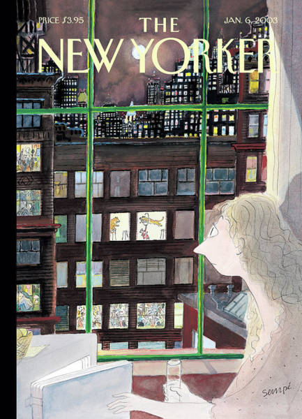 Nyc Buildings Painting - New Yorker January 6th, 2003 by Jean-Jacques Sempe