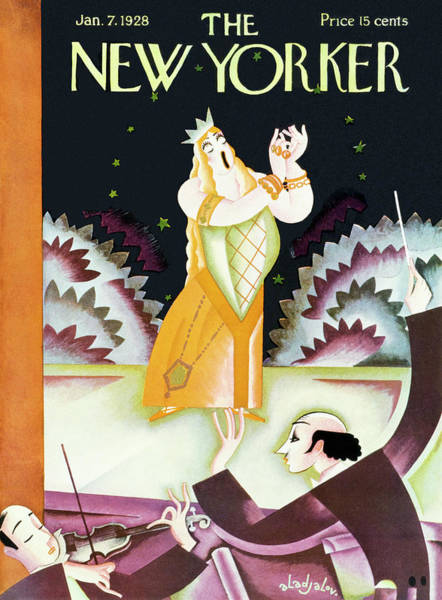 Opera Singer Painting - New Yorker January 7 1928 by Constantin Alajalov