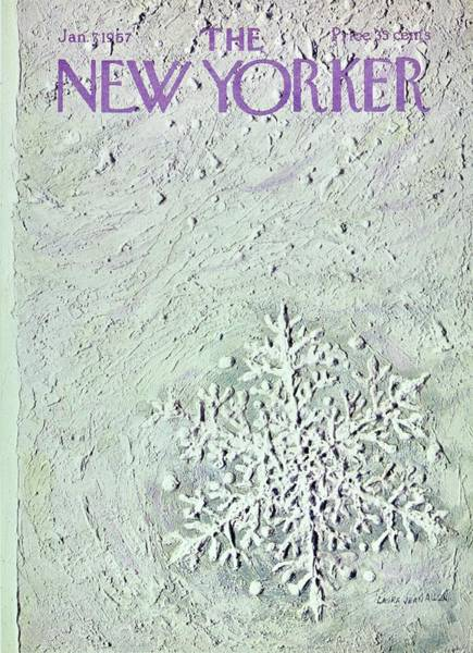1960s Painting - New Yorker January 7th 1967 by Laura Jean Allen