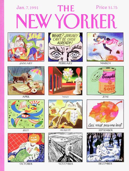 New Yorker January 7th, 1991 Art Print