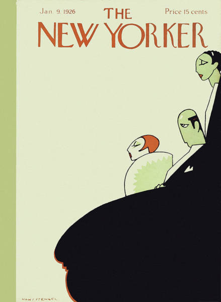Profile Painting - New Yorker January 9 1926 by Hans Stengel