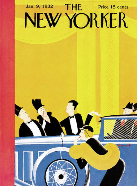Wall Art - Painting - New Yorker January 9th, 1932 by Theodore G. Haupt