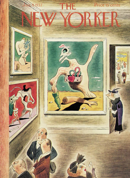 Senior Painting - New Yorker January 9th, 1937 by Richard Taylor