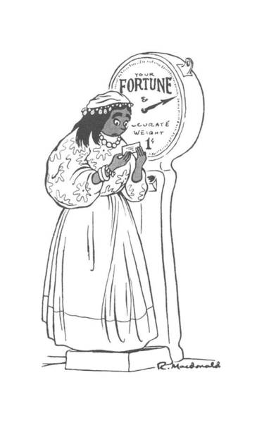 Fortune Teller Drawing - New Yorker January 9th, 1943 by Roberta Macdonald