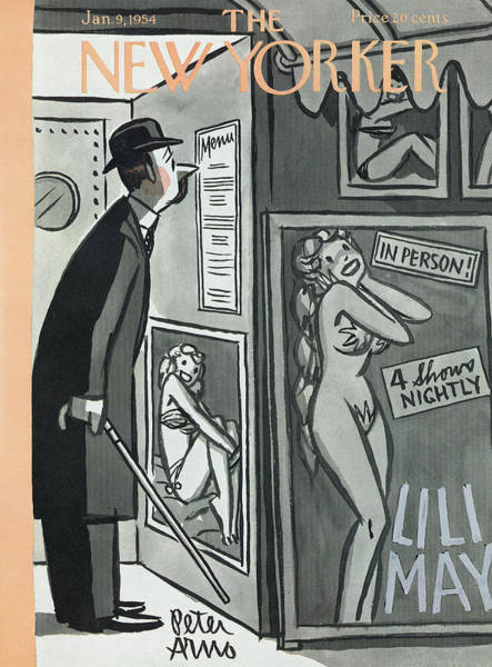 Restaurant Painting - New Yorker January 9th, 1954 by Peter Arno