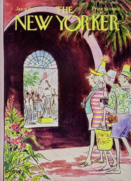 Tropical Plant Painting - New Yorker January 9th 1971 by Charles D Saxon