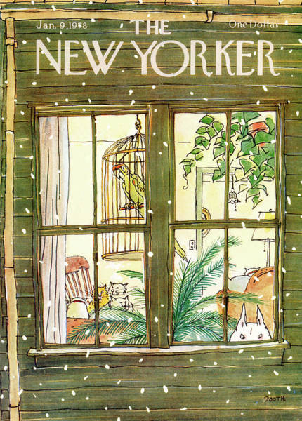 Pet Painting - New Yorker January 9th, 1978 by George Booth